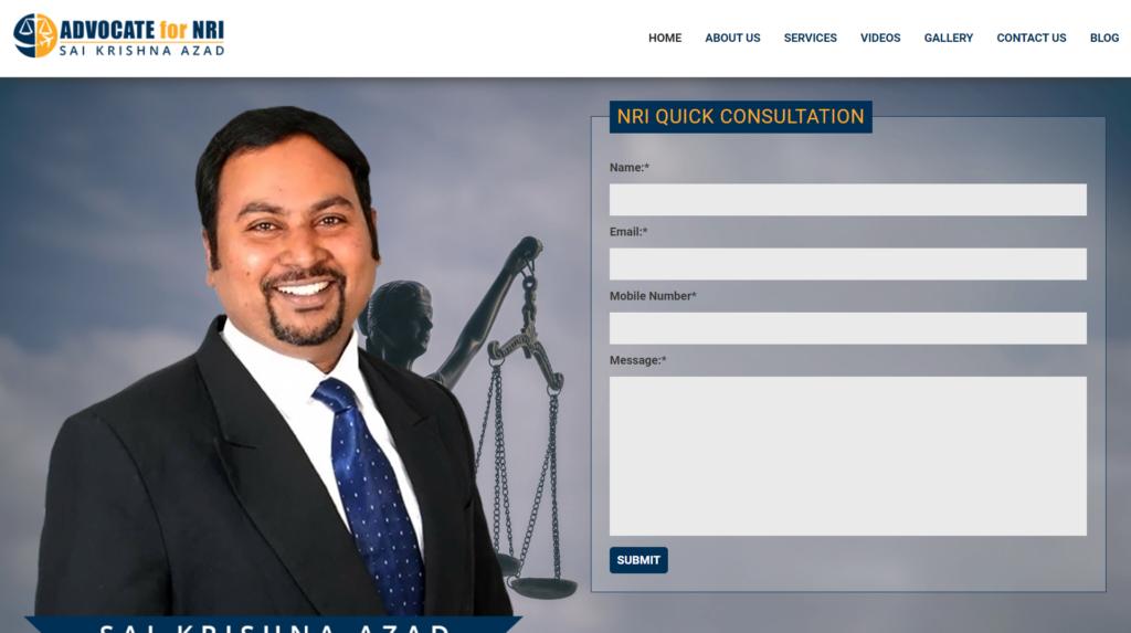 Advocate for NRI